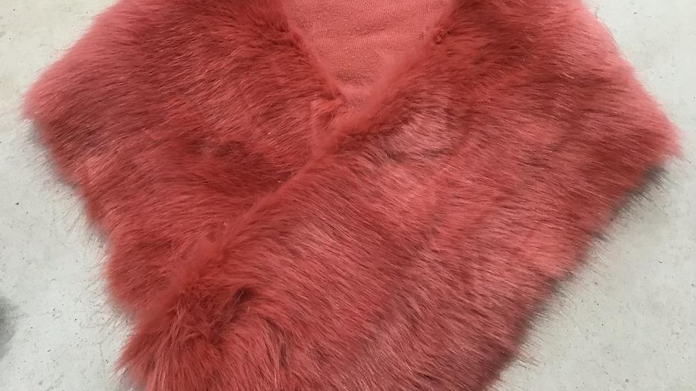 Coral Pink Faux Fur