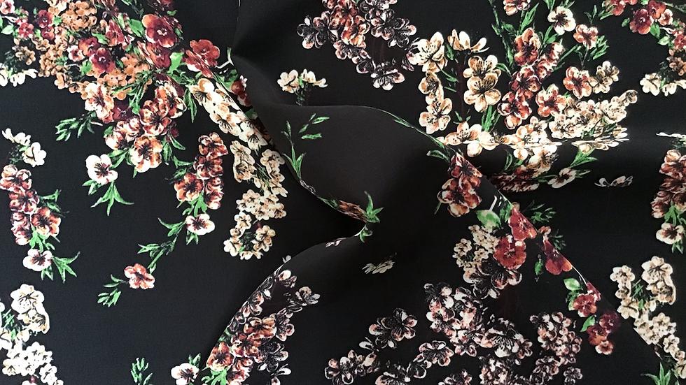 Vera Black Background Chinoiserie