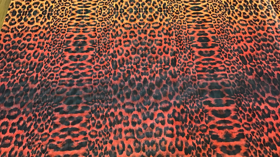 Gingery Shades Animal Print Mesh