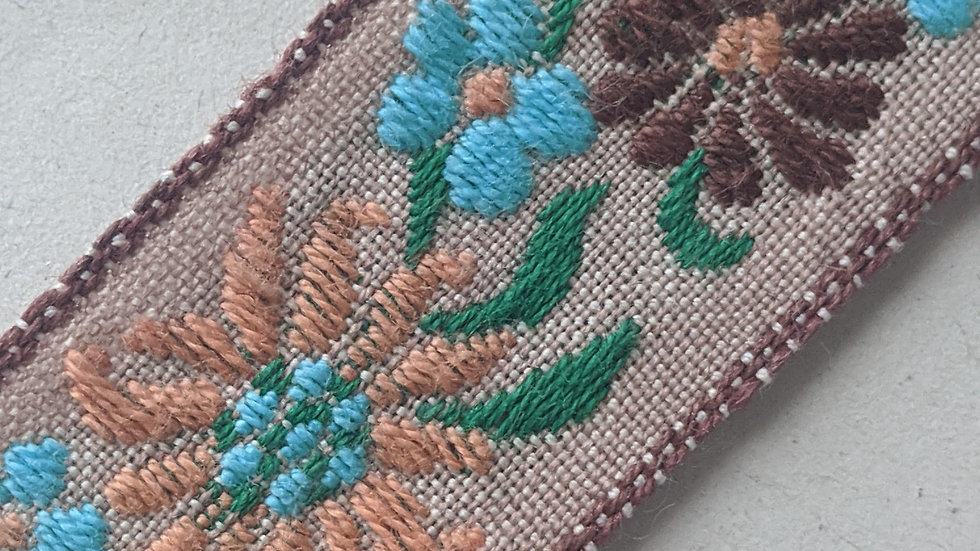 Ecru Braid with Embroidery