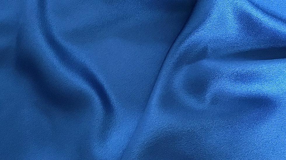 Remnant Blue Satin Crepe / 80cm