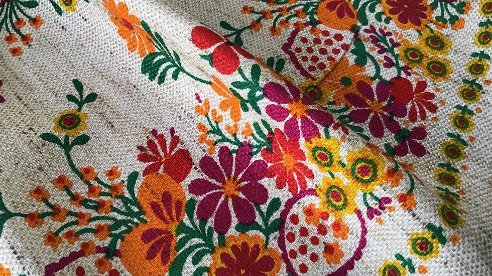 Vintage Haul- Folkwear Floral Rustic Style Linen