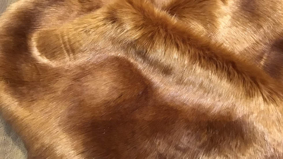 Spicy Ginger Fox Faux Fur Piece - Extra Wide