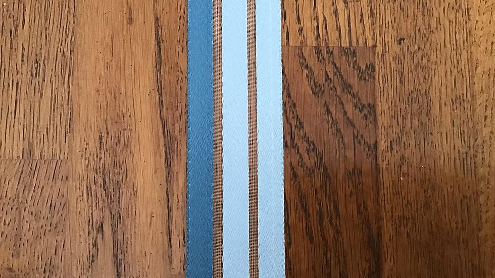 Triple Shades of Blue Ribbon Braid 4cm