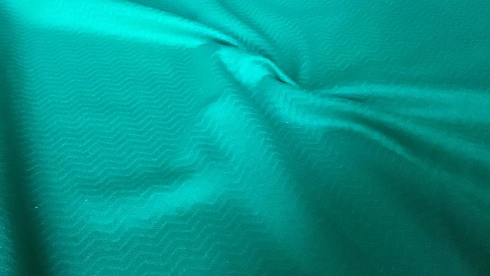 Jewel Green Chevron Virgin Wool
