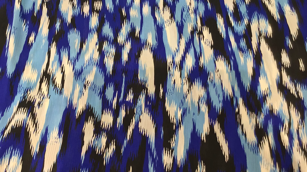 Blue Tribute to Ikat