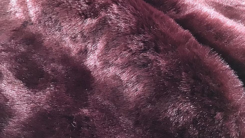 Deep Bordeaux Faux Fur Piece