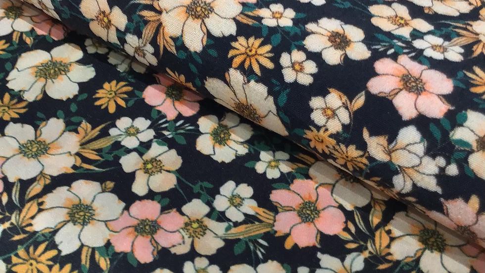 Remnant - Emma Floral Faux Silk/240cm