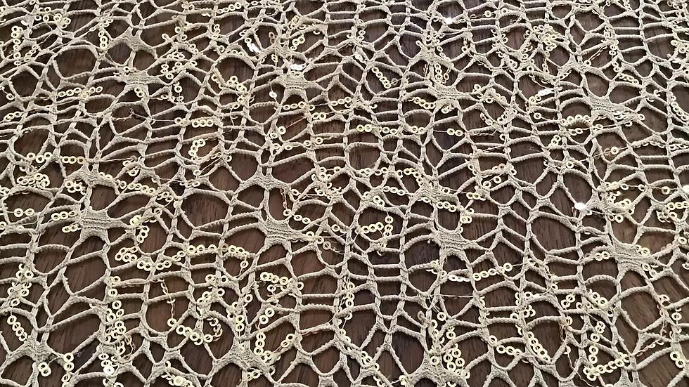 Golden Sequin Lace