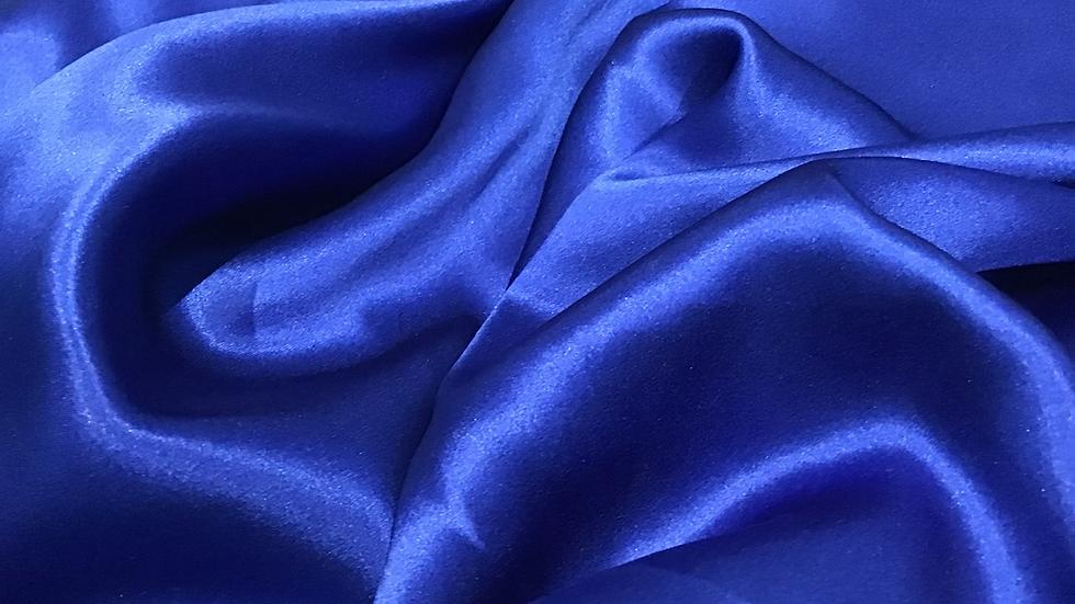Deep Vivid Blue Silk