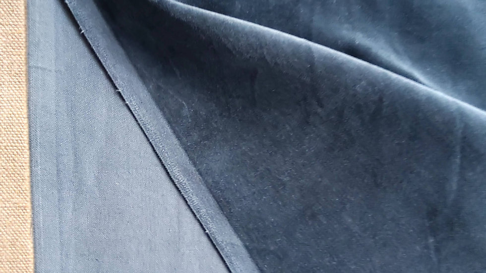 Anthracite Grey Velvet