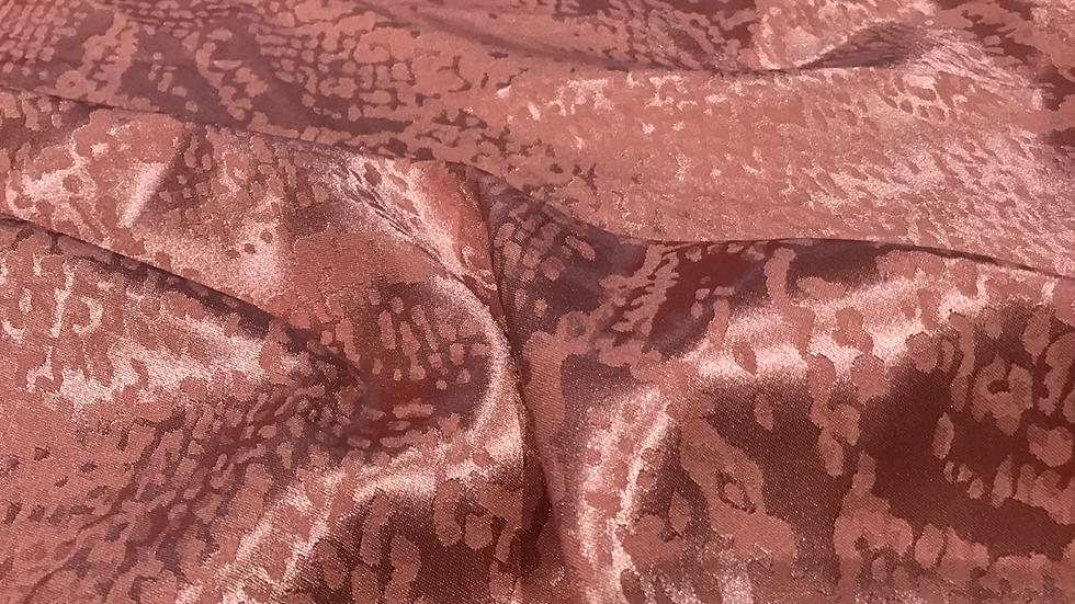 Snakeskin Jacquard  Salmon Pink