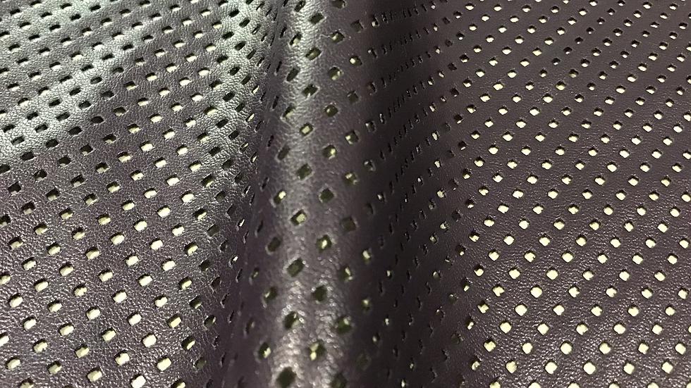 Dark Purple Perforated Pleather