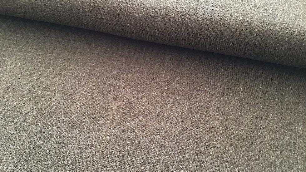 Dark Taupe Brown Wool Crepe