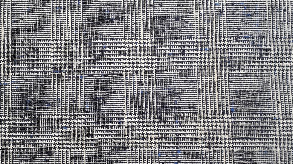 Prince of Wales Dark Navy Linen & Silk