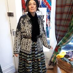 Caroline in her organza skirt