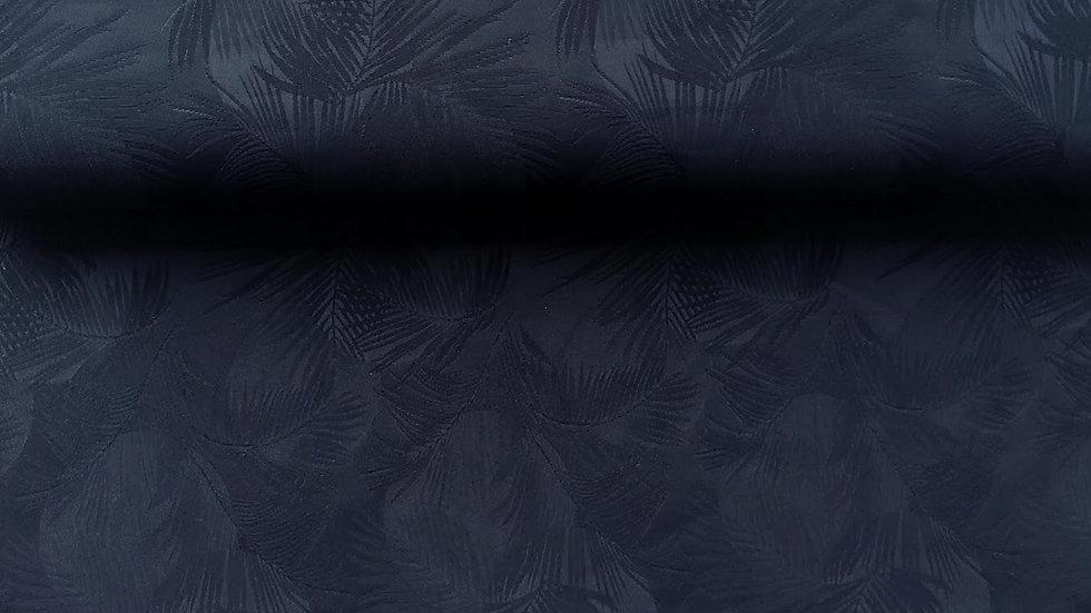 Black Palm Leaf Jacquard