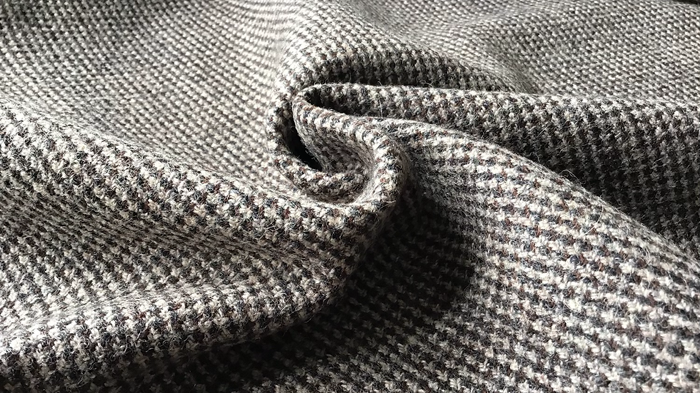 Grey Brown Tweed Wool
