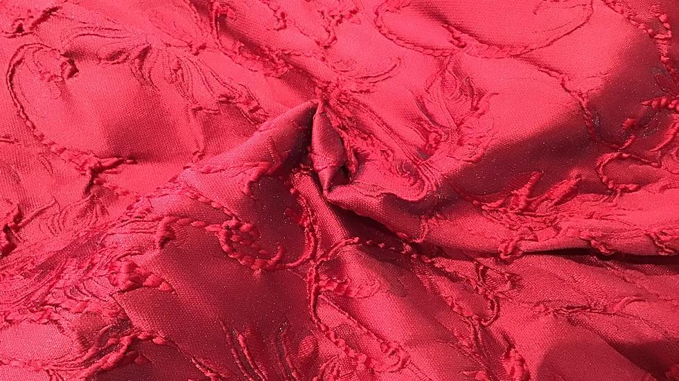 Martina - Rich Red Brocade