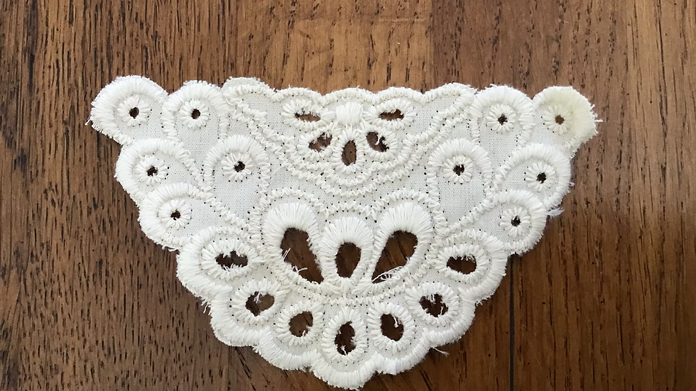 Ivory Cotton Broderie Anglaise Decoltée