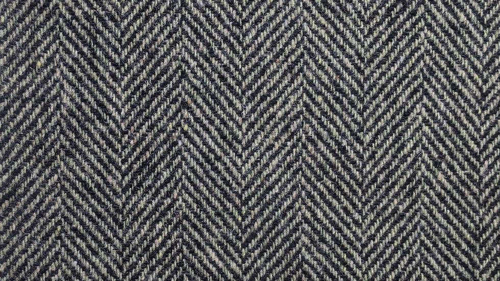 Sage Green & Black  'Dora' Jumbo Herringbone Wool