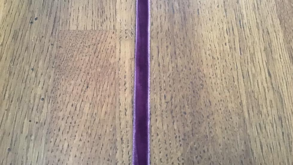 Plum Velvet Ribbon /0.9cm wide