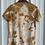 Thumbnail: Cozy Jersey V neck : Osage Orange (size medium)