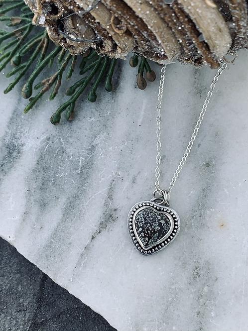 """Poseidon Variscite Heart 18"""" Necklace"""