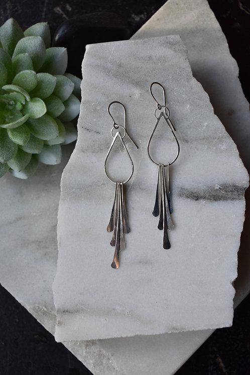 Peacock Tassel Earrings