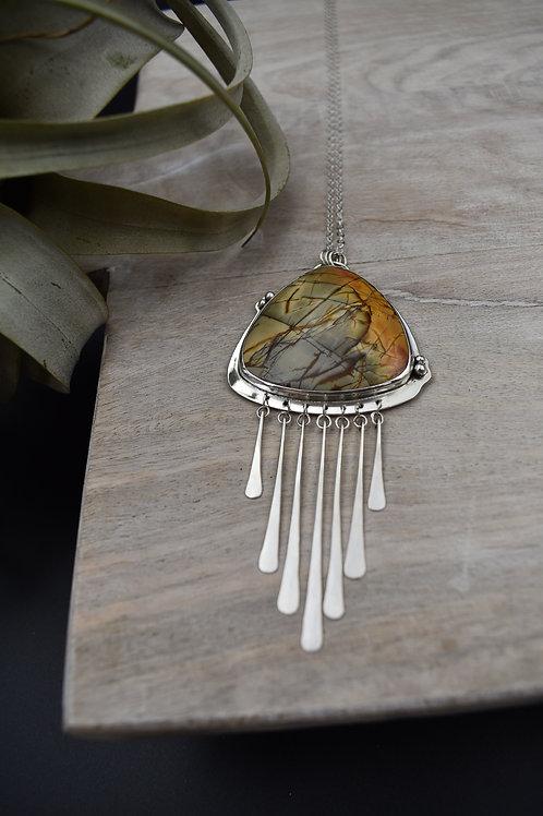 Red Creek Jasper Tassel Necklace (smaller)