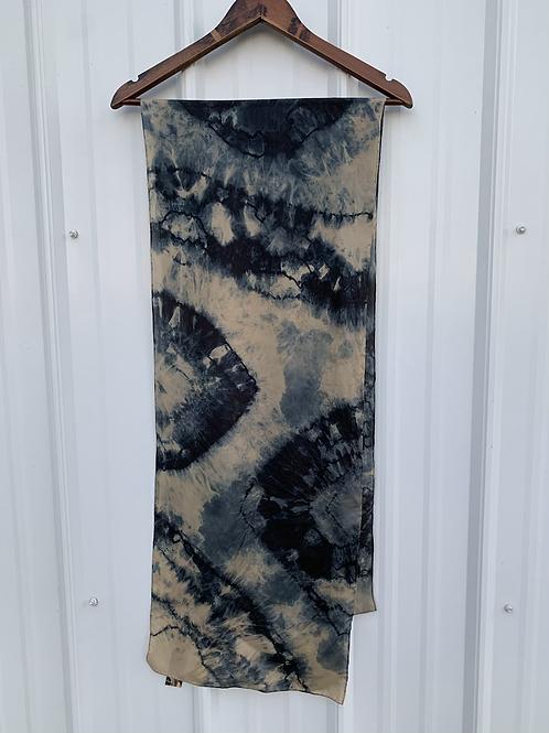 Shadow : Silk Long Scarf