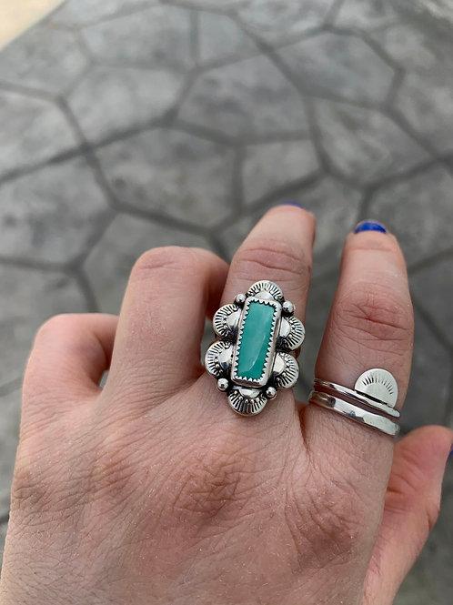 Ma'anshan Turquoise Statement Ring