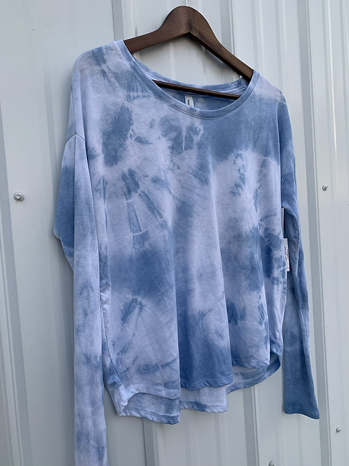 Flowy Long Sleeve Tee : Indigo