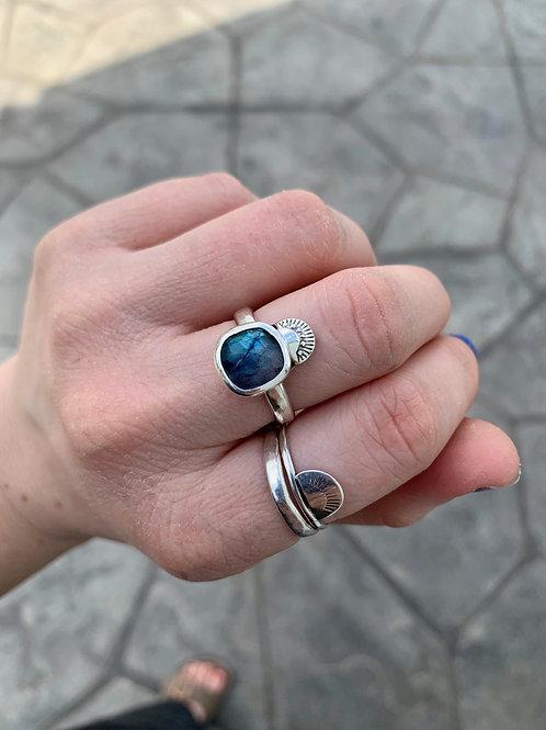 Square Labradorite - Everyday Ring