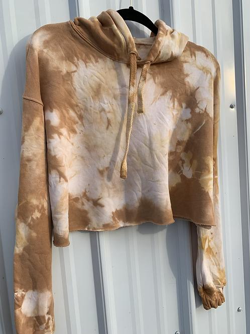 Cozy, Crop Hoodie : Osage Orange ( size medium )