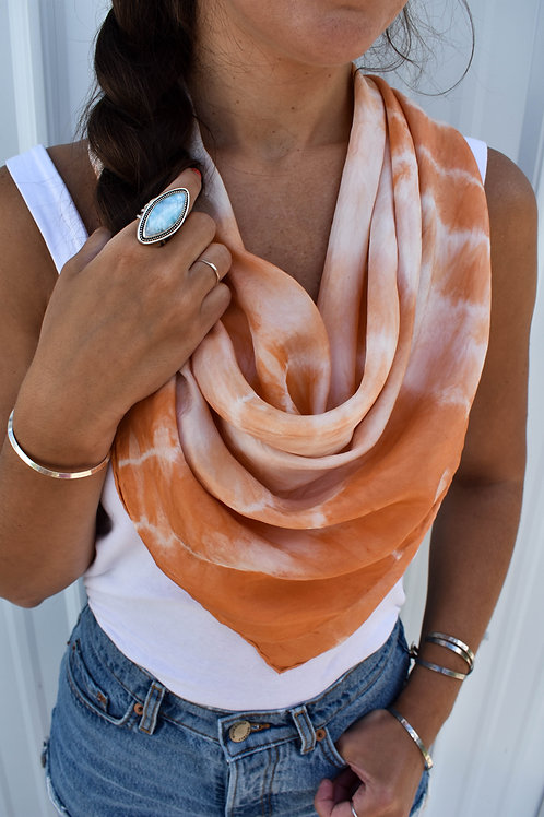 Square Scarf: Madder Root
