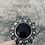 Thumbnail: Circular Black Onyx Mandala Statement Cuff