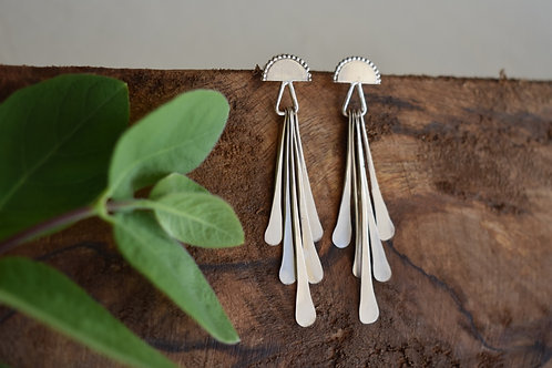 Sun Tassel Stud Earrings