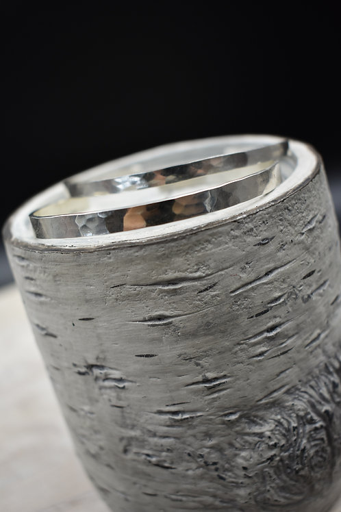 Hammered (Thinner) Sterling Silver Cuff Bracelet