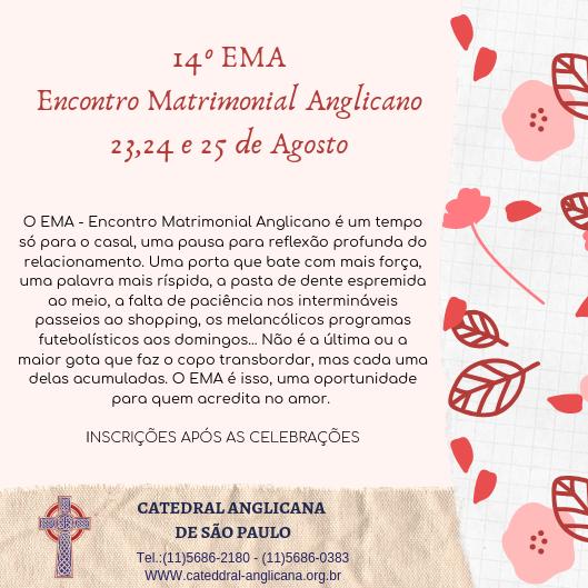 EMA 2019 - Encontro Matrimonial Anglicano
