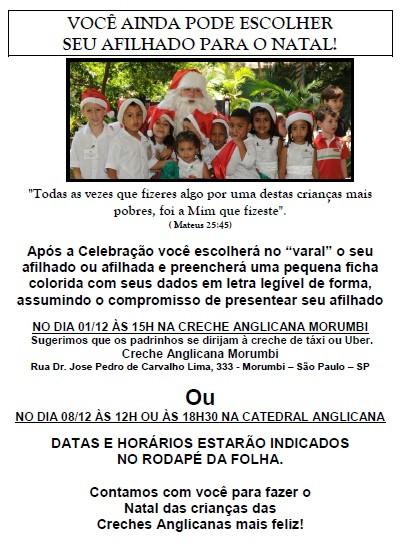 Natal das Creches Anglicanas