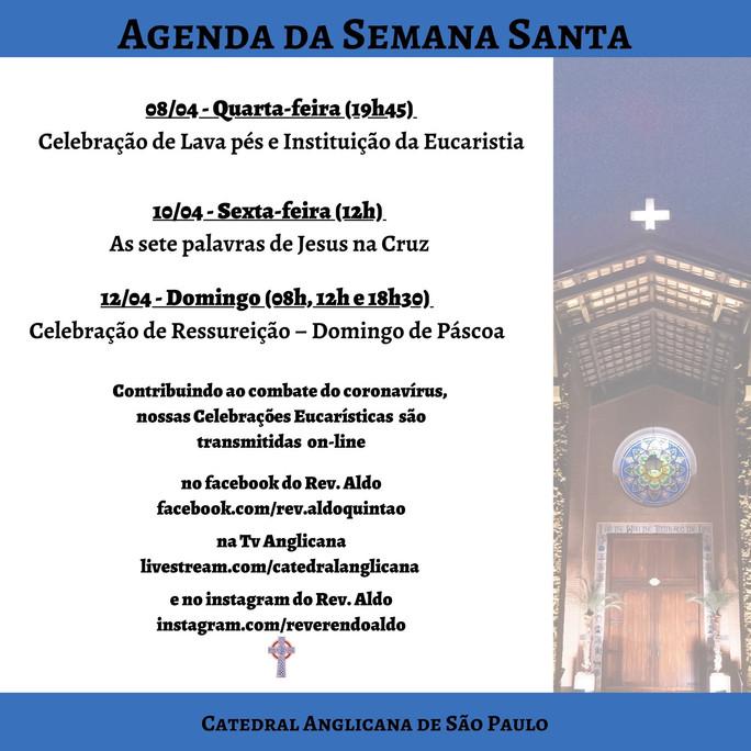 Agenda da Semana Santa