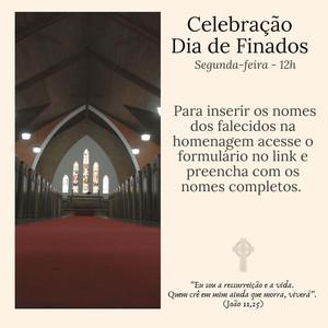Celebração de Finados 02.11 -12h