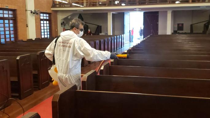 Desinfecção e Sanitização da Catedral Anglicna