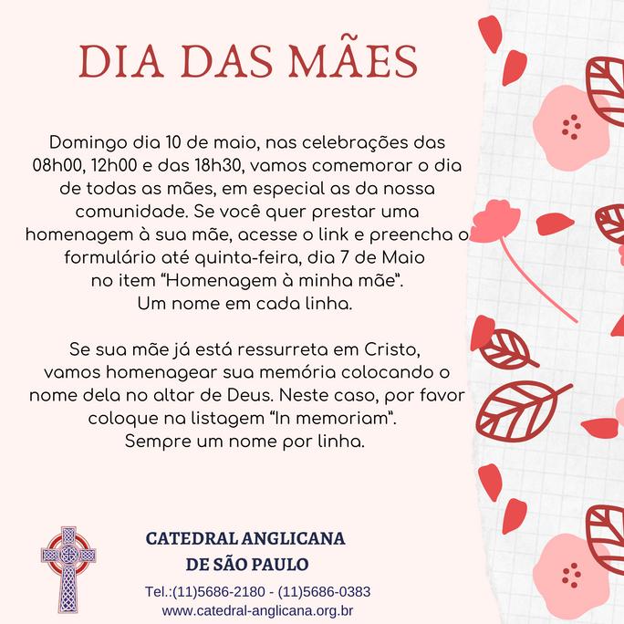 Homenagem Dia das Mães