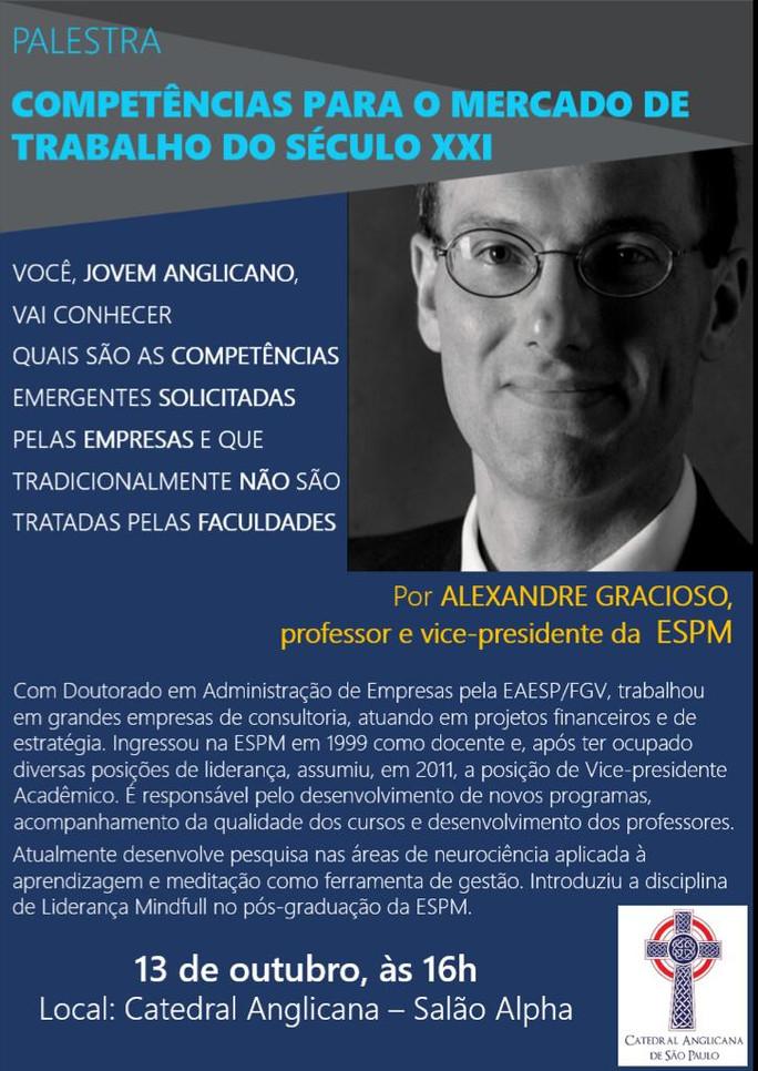 Palestra Dr Alexandre Gracioso ( ESPM) - Grupo de Jovens