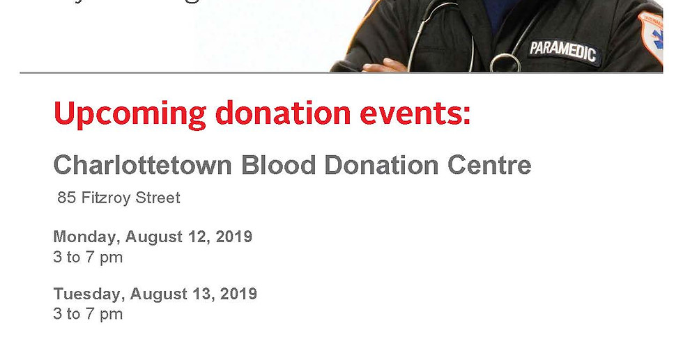 Sirens for Life Blood Drive