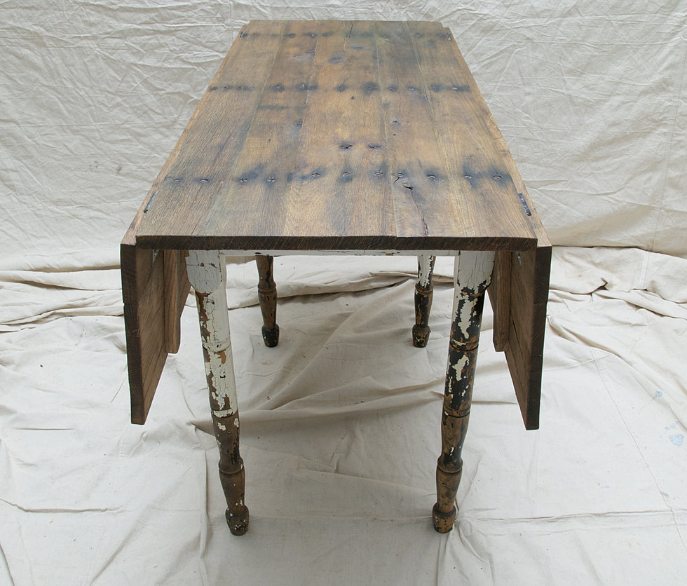 Perfect Reclaimed Oak Drop Leaf Table