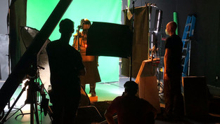 Behind the scenes at The Box production stage