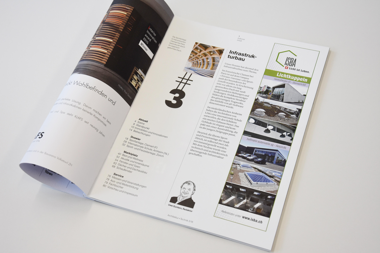 Inseratgestaltung für ein Architekurmagazin
